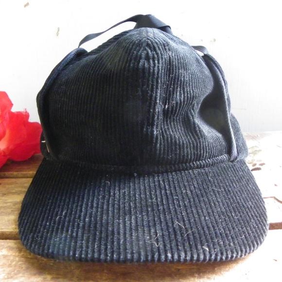 Other - Vintage Retro Corduroy Winter Ear Muff Hat Cap